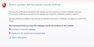 Picture 9 Certificate error